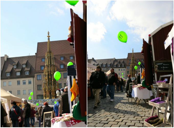 Nürnberg Ostermarkt balloons