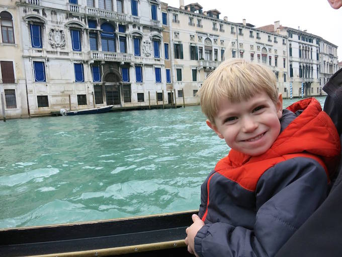 Venice Italy Gondola Ride with Kids