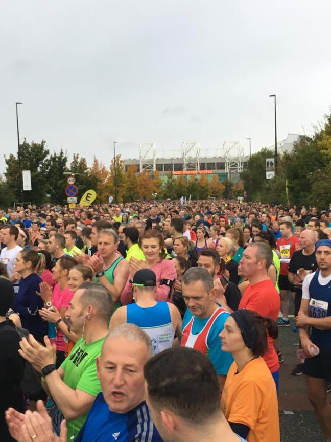 The crowds towards the back of the startline