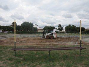 Photo of the earthworks beginning at the North Perth Community Garden.
