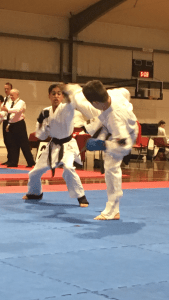 Jake at martial arts competition