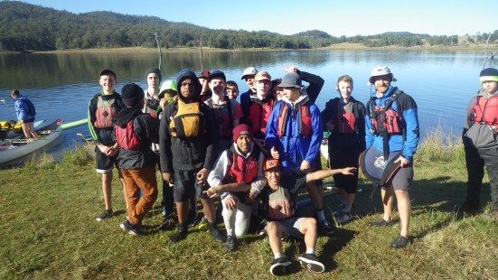 Year 9 students on Survival Camp