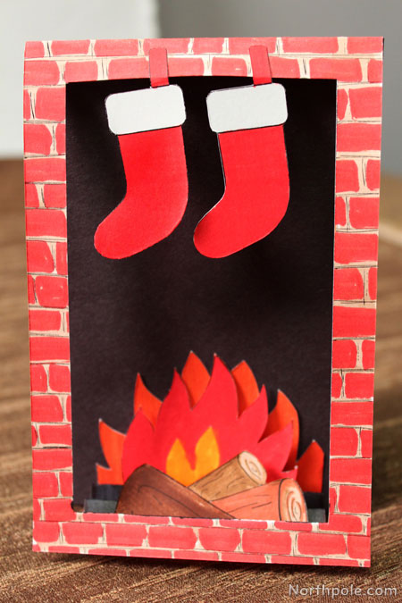Craft Cottage Cozy Fireplace Card