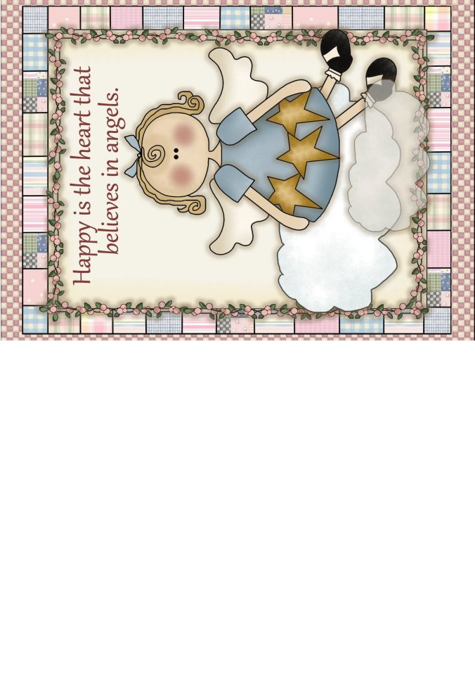 Angel Greeting Card Printable Believe In Angels