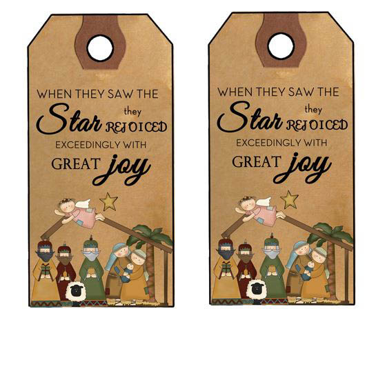 Primitive Christmas Hang Tags And Gift Tags Prim And Rustic