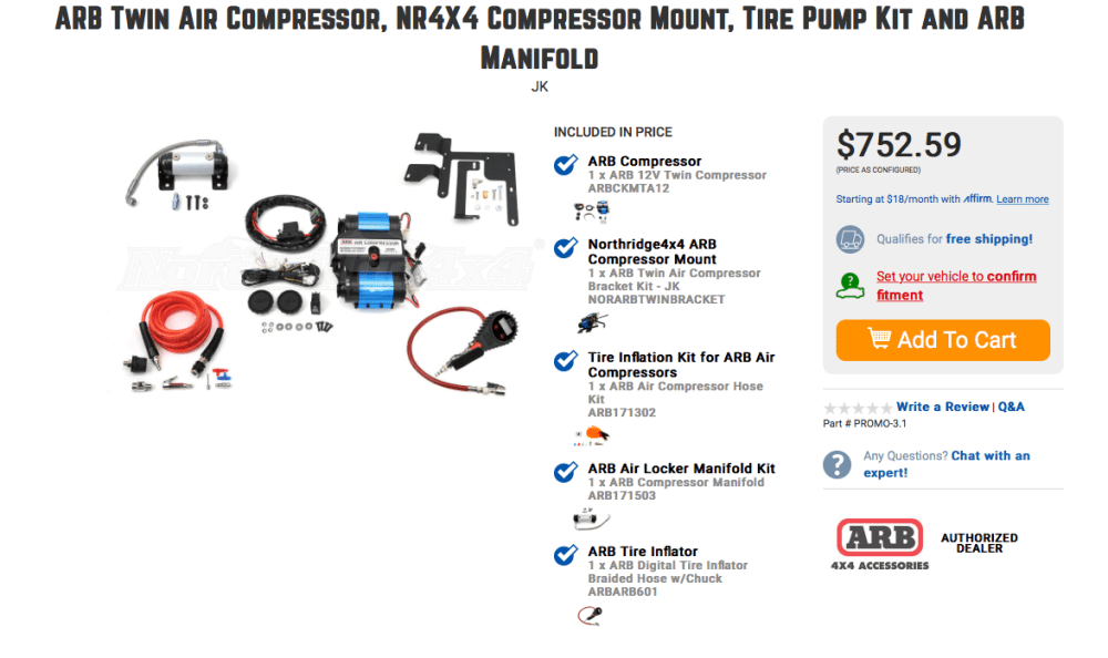 medium resolution of arb twin compressor kit catalog pic