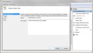Task Scheduler Screen 1
