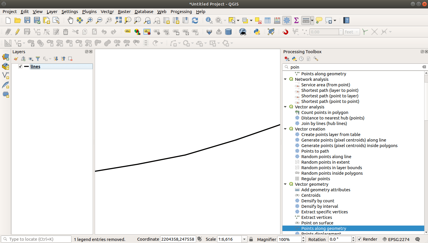 QGIS with Line Feature