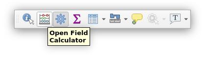 Attributes toolbar in QGIS