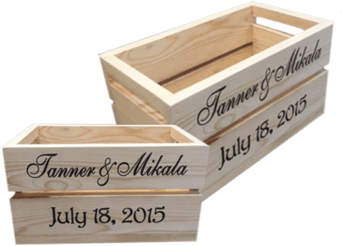 personalized wood crates north rustic design