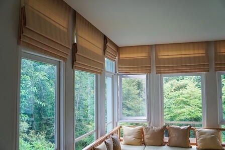 window treatment ideas for living room small space northshield blinds and more elegant roman shades