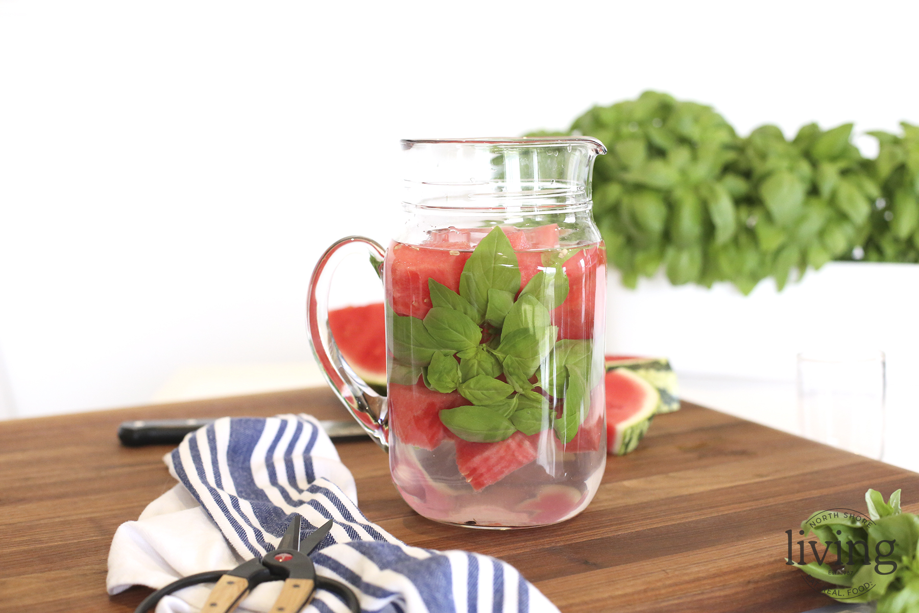 watermelon basil infused water north shore living