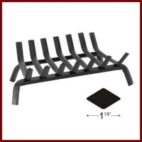 Shallow Steel Fireplace Grate - Northshore ...