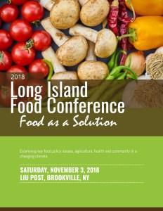 2018 Long Island Food Conference at LIU University prepared