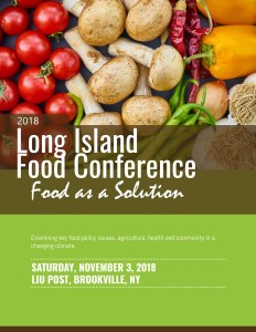 2018 Long Island Food Conference at LIU University prepared