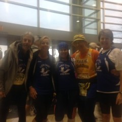 Tom, Denise, Linda, Neil, and Mariellen before the start.