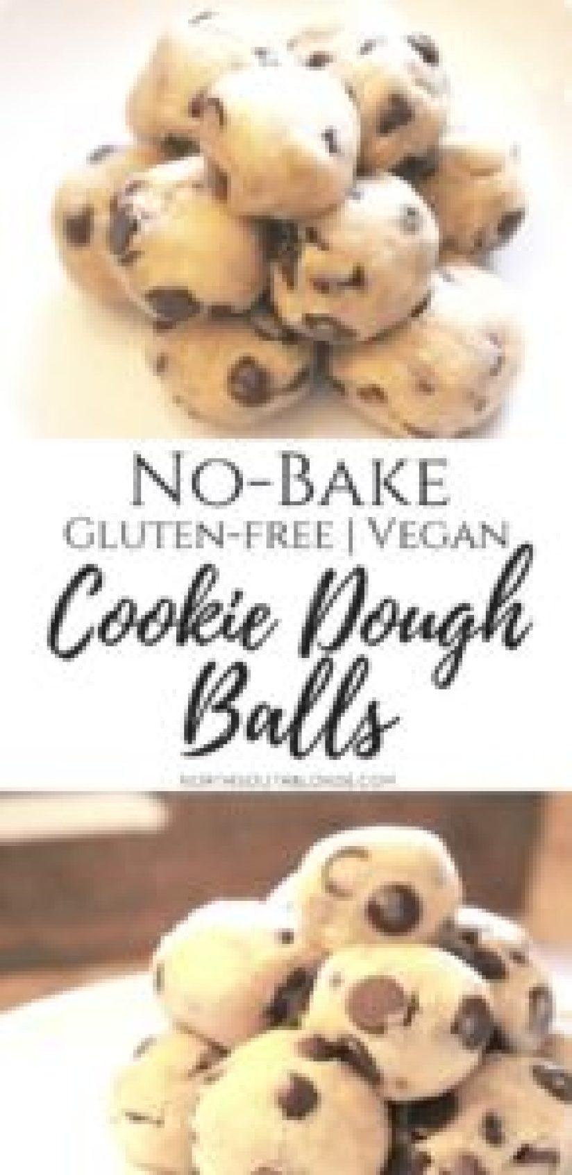 No-Bake Gluten-free Vegan Cookie Dough Balls