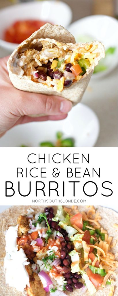Chicken Rice and Black Bean Burritos