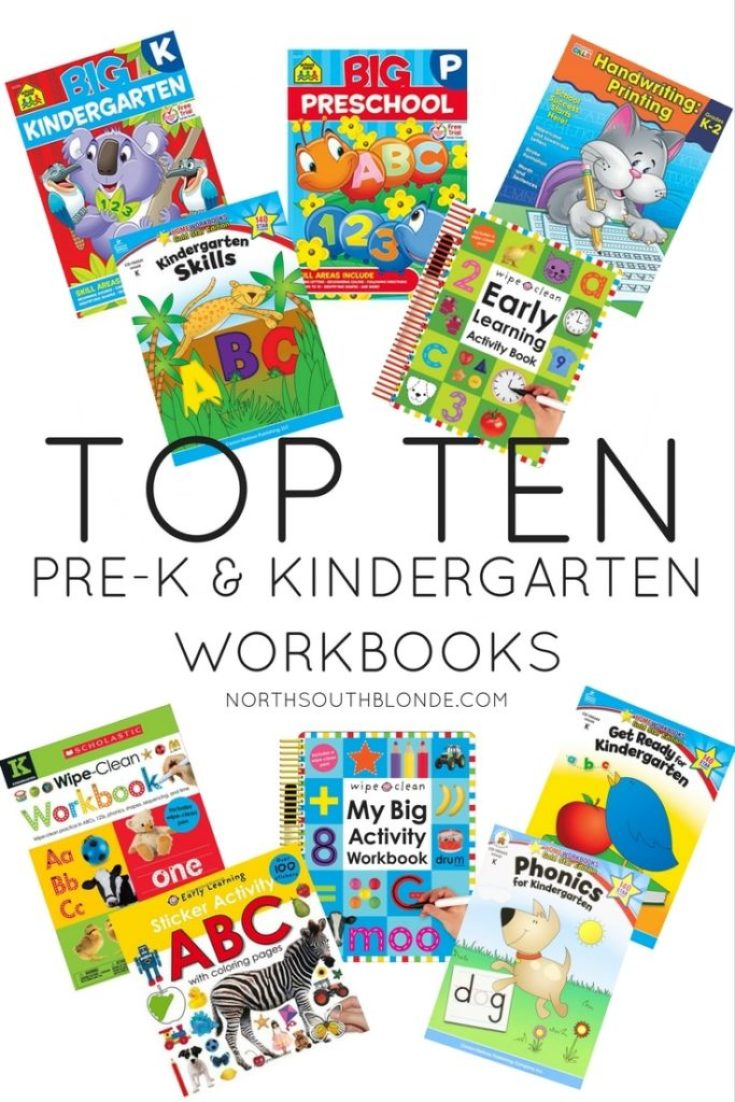 The Top Ten Preschool and Kindergarten Workbooks