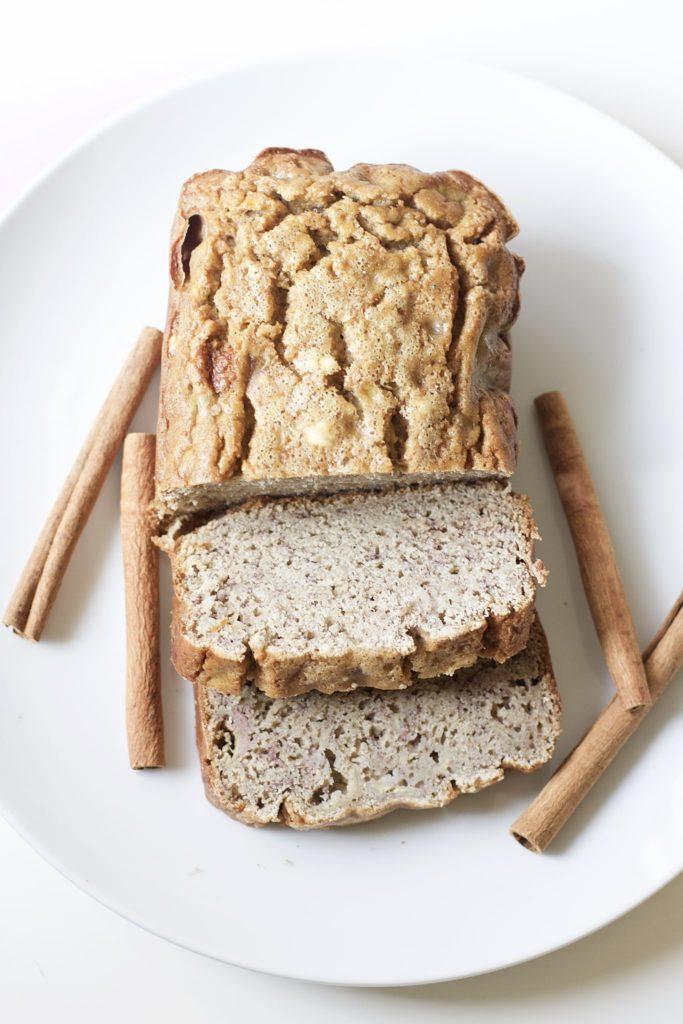 Cinnamon Banana Bread (Gluten-Free, Paleo)