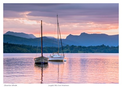 Langdales Pikes from Windermere