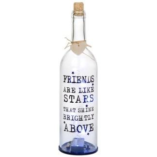 LED Wine Bottle - Friends are like Stars