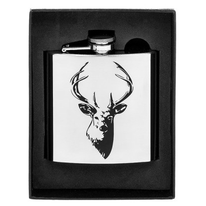 Hip Flask Stag 6oz