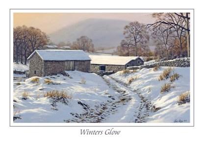 Winters Glow Greeting Card