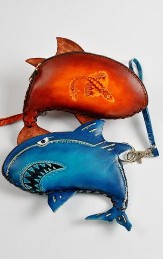 Leather Purse - Shark