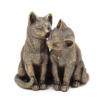 Bronzed Cats Sitting