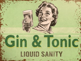 'Liquid Sanity' Metal Wall Sign