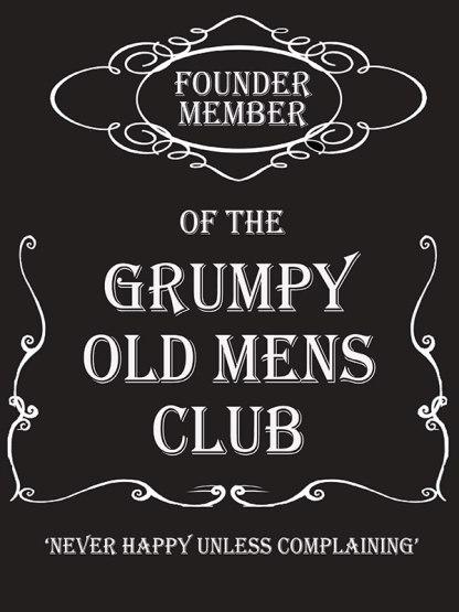 'Grumpy Old Mens Club' Metal Wall Sign