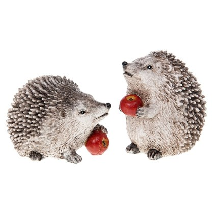 Country Hedgehog with Apple - standing