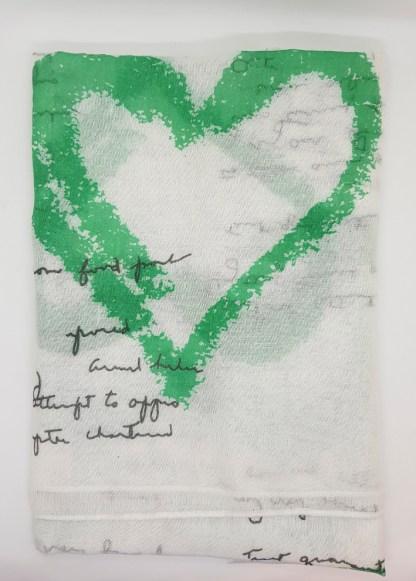 Sweetheart Graffiti Scarf - Green