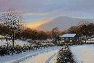 A Winters Cloak Original Oil Painting
