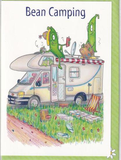 Bean Camping Greeting Card