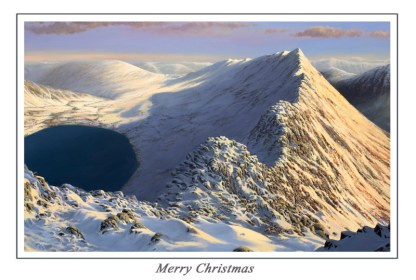 Dawn over Striding Edge Christmas Card