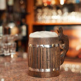 Handcrafted Oak Tankards