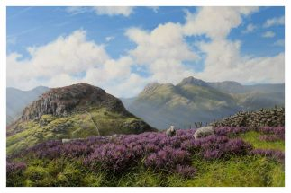 The Langdales from Side Pike First Edition Print