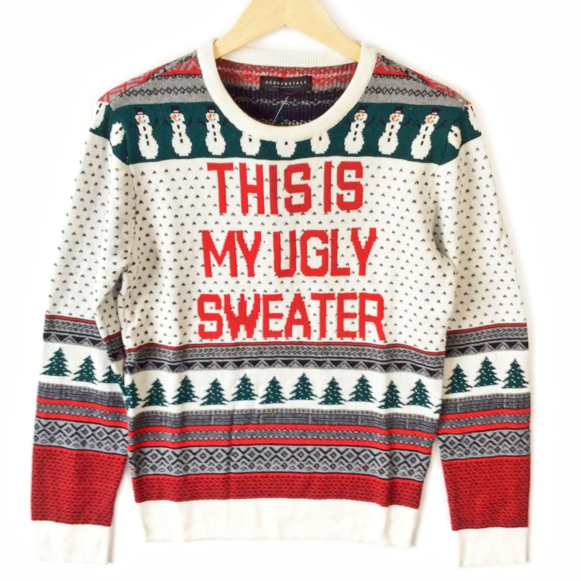 Tacky Christmas Sweater.This Is My Ugly Sweater Fair Isle Tacky Ugly Christmas Sweater