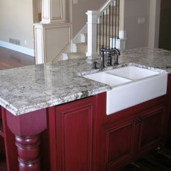 Granite Kitchen Counters Slim Trash Can Natural Stone Countertops Northstar Tops Delicatus Island Farm Sink Countertop