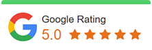 5 start rated in google for garage door services
