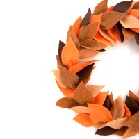 DIY Fall Felt Wreath - An easy step by step tutorial