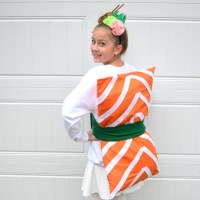 DIY Sushi Costume and a Ginger Wasabi Headband