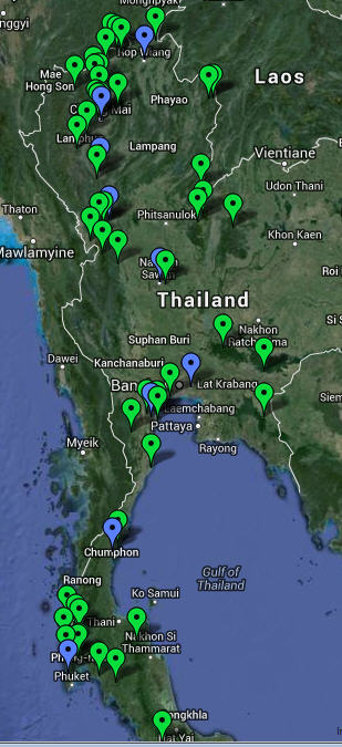 Google Earth and Google Maps Links North Thailand Birding