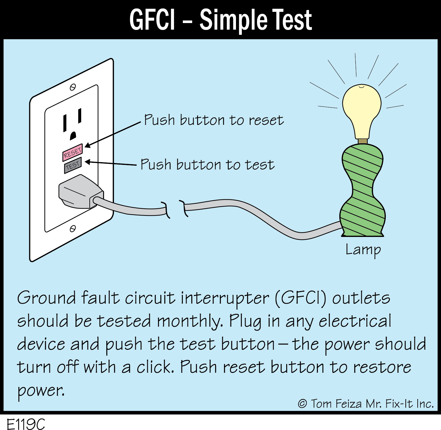 hight resolution of e119c gfci simple test