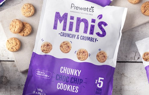 Prewett's launch gluten free Mini's Chunky Choc Chip Cookies-