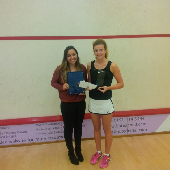 Lucy Beecroft and Josie Barker with their trophies