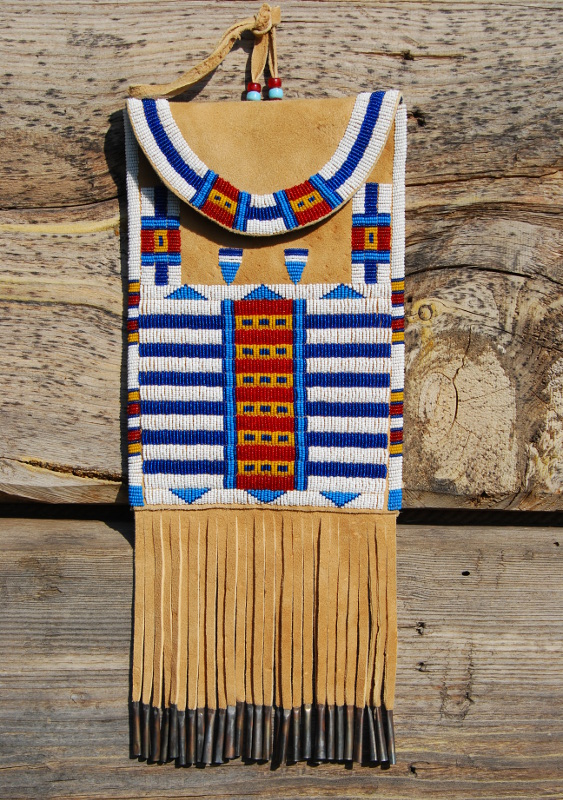 Beadwork  Cheyenne style dispatch bag  NorthVoicecom