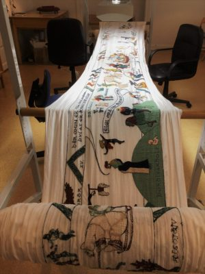 The final tapestry will be 46 meters long
